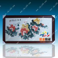 景德镇手绘瓷板画,花开富贵瓷板画价格,定做陶瓷瓷板画