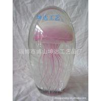厂家定制销售各种尺寸的琉璃工艺品 夜光水母球