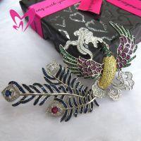 饰品凤凰展翅项链扣 毛衣链珍珠DIY配件 出口公司 镶嵌珠宝EB082