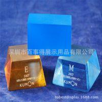 多款多色亚克力水晶方块/各色有机玻璃工艺品/彩色亚加力工艺品