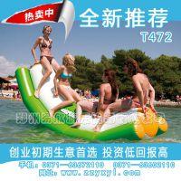 水上充气滑梯大型 水上双人压板 水上太空岛道具热卖中