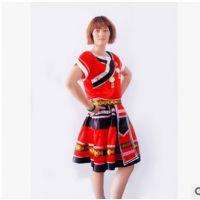 定做少数民族舞蹈表演服 女藏族舞蹈服 蒙古族舞台舞蹈演出服