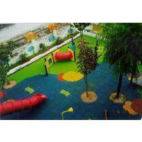 广东儿童滑梯地板铺设 2.0橡胶地垫颜色定制 加厚安全地垫康腾体育厂家