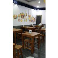 深圳粉面饺子馆餐桌椅定做 行一快餐厅桌椅 现代中式