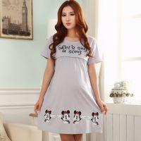 批发 哺乳裙睡裙夏季哺乳衣外出时尚喂奶衣裙孕妇月子服居家服