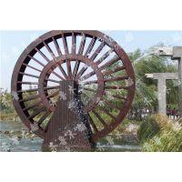 16米大型景观水车,河南防腐木水车制作厂家