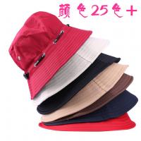 定制渔夫帽子男女光板户外帽折叠遮阳防晒盆帽旅游帽太阳帽 广告促销帽