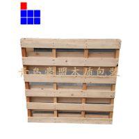黄岛木托盘厂家直供四面进叉松木托盘支持来样定做物美价廉
