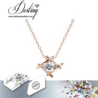 戴思妮 镀黄金水晶项链吊坠 采用施华洛世奇元素 女式饰品 厂家直销