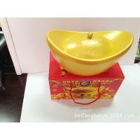 【厂家直供】喜庆元宝糖果盒 塑料储物罐 创意礼品可印logo
