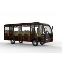 新款仿古十四座观光车,观光电动车敞开式,四轮电动观光车