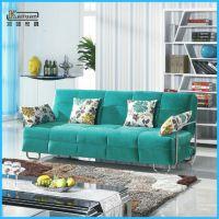 厂家定做 小户型田园布艺沙发 新款多功能折叠沙发床