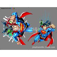 厂家直销 热门卡通动漫 超人蝙蝠侠绿灯侠超级英雄系列烫画印花