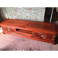 名琢世家刺猬紫檀古典中式团圆电视柜价格图片