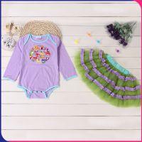 2016新款韩版全棉童套装 婴儿宝宝儿童长袖短裙外贸童装一件代发