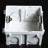 自扣式灰色阻燃86单联暗盒 阻燃PVC料暗盒 家庭装修专用底盒