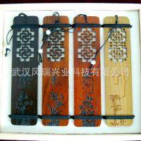 【厂供】上海特色礼品 创意礼品 红木制书签 雕刻定制
