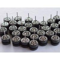 东莞宇和专业加工车轴打头 宇和HY-0340塑料车轮 玩具车轮