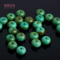 厂家批发天然优化绿松石5*8mm算珠散珠佛珠算盘珠隔珠