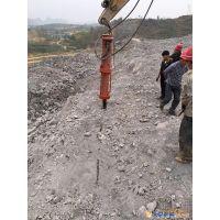 重庆忠县液压挖机胀石机倍菲特静爆机械3500吨分裂力