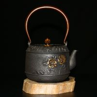 日本龙秀堂铁壶斋批发鎏金铸铁茶壶厂家直销招微商代理零元一件代发