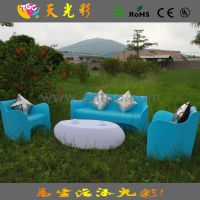 户外休闲沙发 咖啡厅椅子 酒店塑料家具 甜品店休闲家具 彩色沙发
