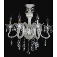 CVMA厂家直销 5028C-6A高档水晶吊灯 欧式l蜡烛灯饰 欧式玻璃弯管白炽灯水晶吊灯