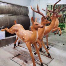 抽象动物雕塑 玻璃钢雕塑园林景观动物厂家供应