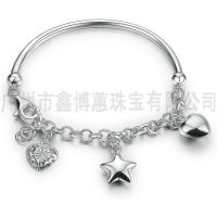 广州银饰批发925纯银手链女士饰品定制服装配饰