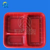 供应一次性餐盒三格快餐盒 3格套餐打包饭盒 带盖餐厅便当盒餐具批发