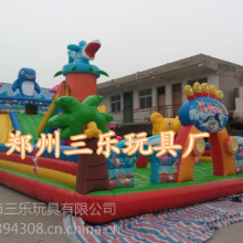 山东临沂15*8米鲨鱼大象充气大滑梯现货,广场经营专用大型充气滑梯