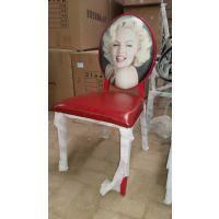 欧式复古做旧实木餐椅美式乡村休闲椅餐厅酒店影楼漫咖啡椅子