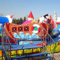 供应郑州莱恩斯新款轨道回摆类儿童游乐设备冲浪旋艇