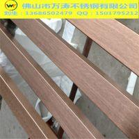 304拉丝玫瑰金不锈钢方管15*15*0.9