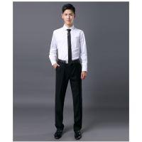 春秋季商务正码长袖男装工作白衬衫男士职业工装衬衣工作服订制
