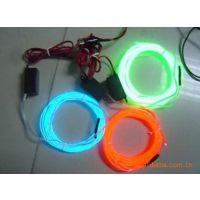 供应EL荧光绿发光线直径3.2mm12V电源连接