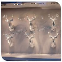 圣诞装饰道具 店铺软装麋鹿头部挂件装饰 橱窗道具 商场美陈