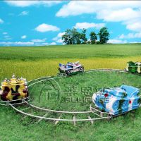 供应郑州莱恩斯新款轨道类儿童游乐设备坦克追逐车
