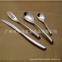 厂家直销 高档西餐餐具304不锈钢刀叉勺礼品餐具四件套***低促销