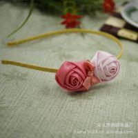 【海纳.饰品】韩式儿童粉色玫瑰花韩式发箍 促销中 儿童发饰发箍