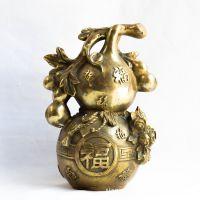 批发纯黄铜 纯铜福字葫芦摆件 百富葫芦 镇宅化煞之宝 家居工艺品