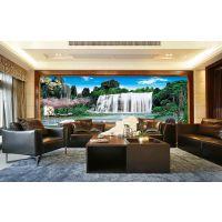 大型壁画中式山水风景壁画系列厂家定制个性化沙发背景墙无缝壁画