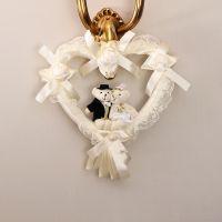 婚庆用品婚礼装饰挂件结婚婚房装饰情侣小熊爱心挂饰金麟挂件