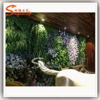 厂家直销仿真草坪墙 植物墙 仿真花墙 文化墙景观设计施工