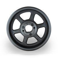 山东铸造皮带轮采购spz250-08选无锡帛扬锥套皮带轮厂家