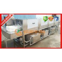 希源牌料箱清洗机,烤盘洗涤流程,洗筐机工艺X6型