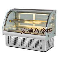 供应安德利 桌上型保鲜柜 寿司柜 双层蛋挞蛋糕展示柜