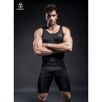 Silverback银背金刚男士篮球运动打底衫健身训练服无袖背心紧身衣