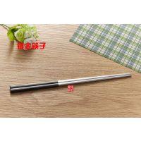 厂家直销 不锈钢筷子 黑金半镀金高档不锈钢筷子 西餐餐饮用品