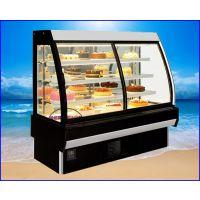 圆弧形玻璃展示保鲜蛋糕柜 滁州蛋糕房冷藏展示柜 1.2米豪华西点柜